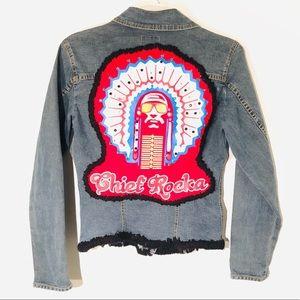 Jackets & Blazers - Chief Rocka Upcycled Denim Jacket
